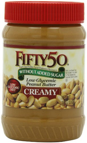 FIFTY 50 Diet Preserves/Honey/Syrups Peanut Butter 6/18 OZ