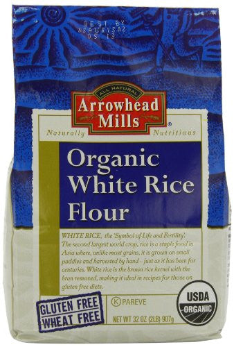 Arrowhead Mills Flour, White Rice, Organic 32.0 OZ