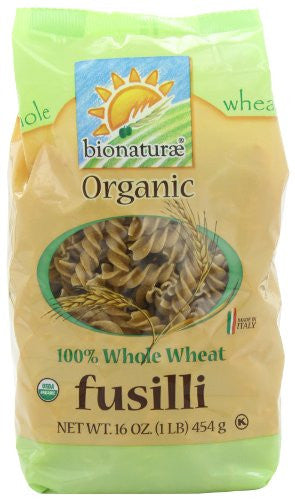 Bionaturae Fusilli Pasta Organic Whole Wheat 16.0 OZ