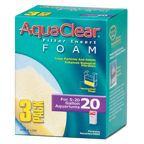 AquaClear 20 Foam Insert (3/pack)