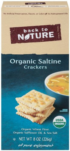 Back to Nature Crackers, Saltine Organic 8.0 OZ