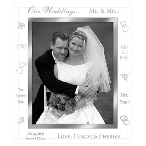 8X10 WEDDING GLASS