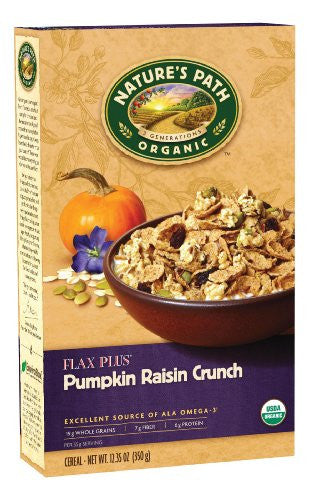 Nature's Path Cereals Flax Plus Pumpkin Raisin Crunch At least 95% Organic (12.35 oz.)