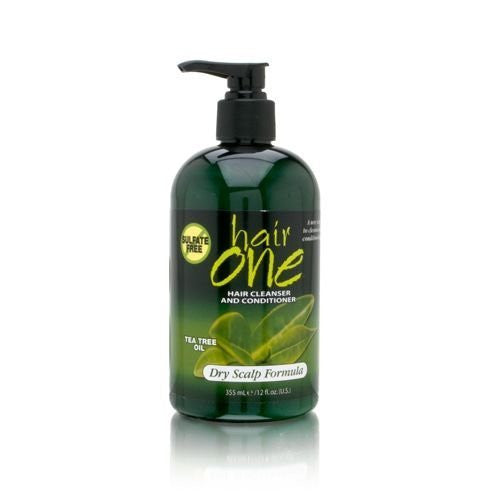Hair One Tea Tree Oil Cleanser & Conditioner 12oz (Dry Scalp)