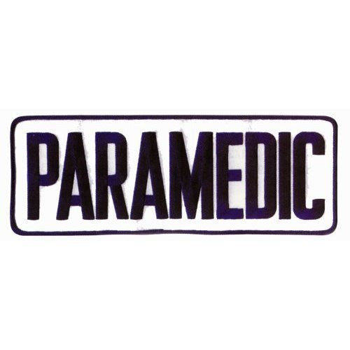 Large Back Patch - PARAMEDIC - Blue on White