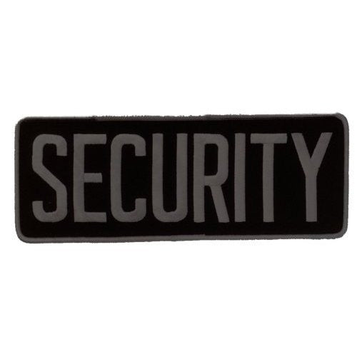 Large Back Patch - SECURITY - Gray on Black