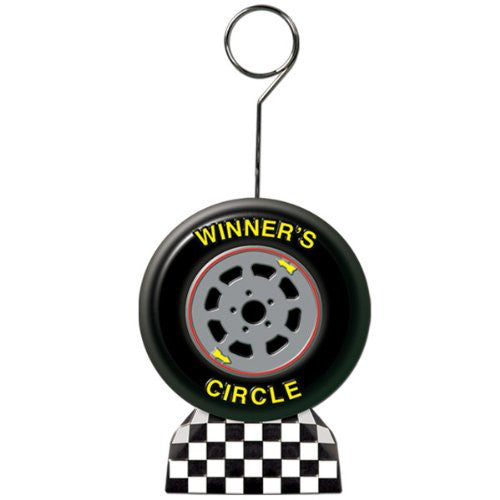 Racing Tire Photo/Balloon Holder Party Accessory (1 count)