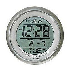 Bathroom Atomic Clock with Date and Suction Cup