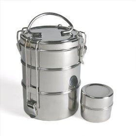 Stainless Steel Food Containers: To-Go Ware 3 Tier Food Carrier