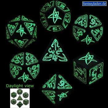 COC Green/Glow-in-the-Dark (set of 7)