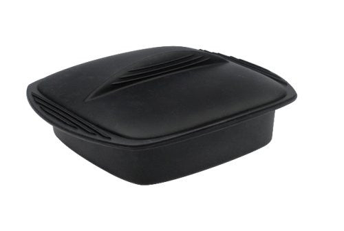 Mastrad A68900 Silicone Square Steam Cooker, Black