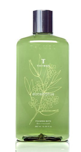 Thymes Liquid Foaming Bath, Eucalyptus, 12.25-Ounce Bottle