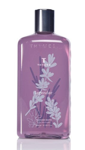 Thymes Liquid Foaming Bath, Lavender, 12.25 -Ounce Bottle