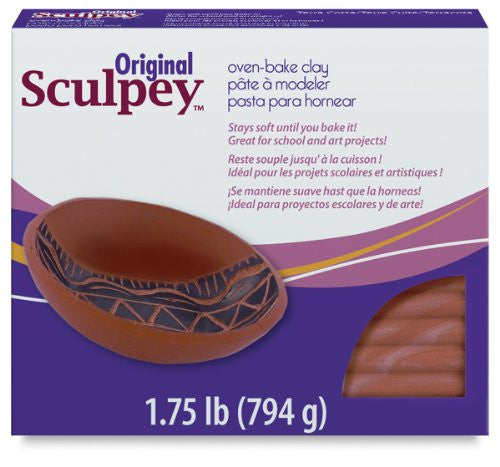 Sculpey Original Polymer Clay 1.75lb - Terra Cotta