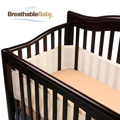 BreathableBaby Breathable Safer Bumper, Fits All Cribs, Ecru