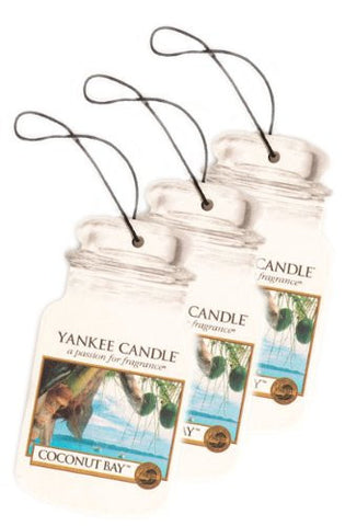 Yankee Candle Car Jar 3 Pack Coconut Bay