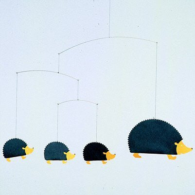 Flensted Mobiles Nursery Mobiles, Hedgehog Family
