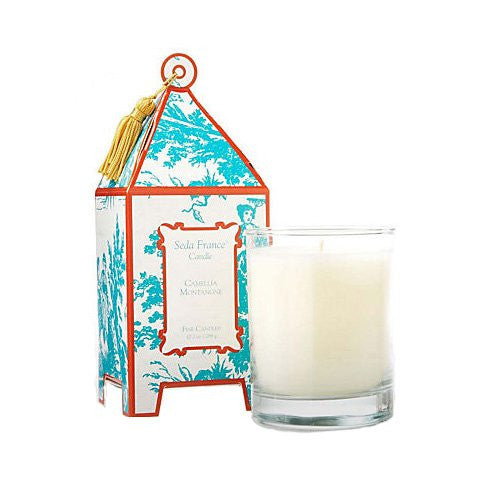 Classic Toile Pagoda Candle- French Tulip