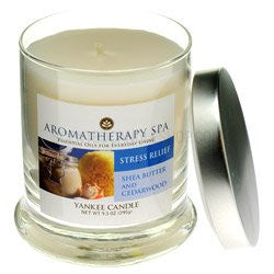 Stress Relief - Shea Butter and Cedarwood 9.5 Oz Aromatherapy Spa Jar Yankee Candle