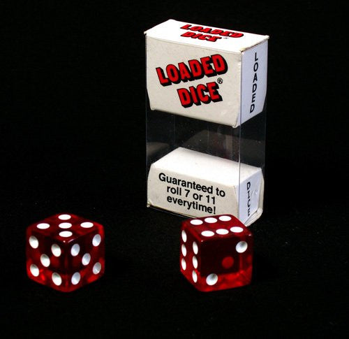 LOADED 7&11 REWH DICE -1 pair, transparent