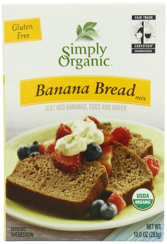Banana Bread Mix, Organic, Fair Trade Certified, 10.00 oz. (3 pk)