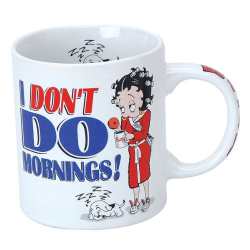 "Betty Boop Mug by NJ Croce - ""I don't do mornings"""