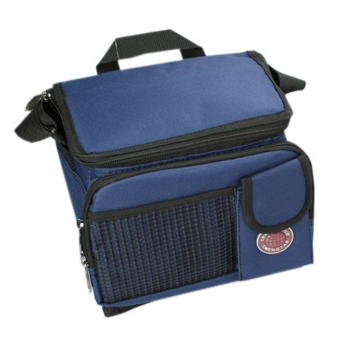 "Durable Deluxe Insulated Lunch Cooler Bag (Many Colors and Size Available) (9"" x 7"" x 8"", Navy)"