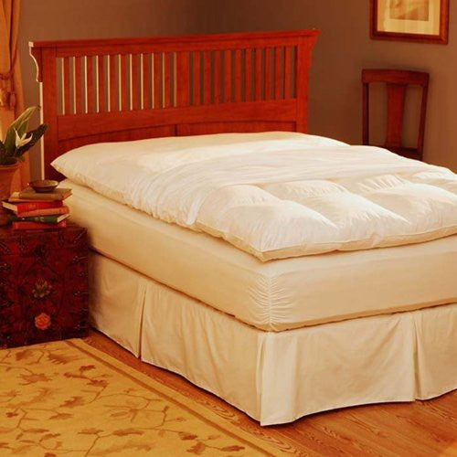 Feather Bed Cover with zip closure Cal King