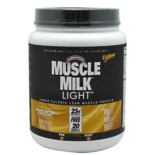 Muscle Milk Light 1.65 lb (750 g) Peanut Butter Chocolate Meal Replacements Sup