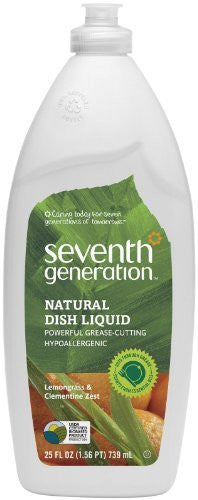 Seventh Generation Natural Liquid Dish Soap 25 oz (739 ml) (Scent Name: Lemongrass and Clementine Zest)