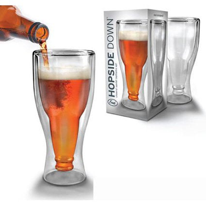 Hopside Down Glass Mug - Upside Down Beer Glass