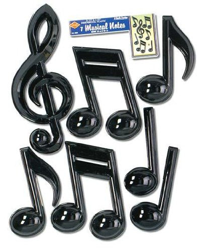 Musical Note Removable Wall Decorations Child