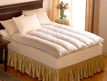 Baffle Channel Euro Rest Feather Bed Queen