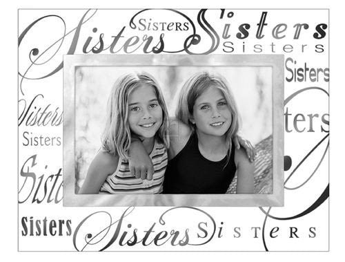 Malden Clear Expressions SISTERS glass keepsake - 4x6