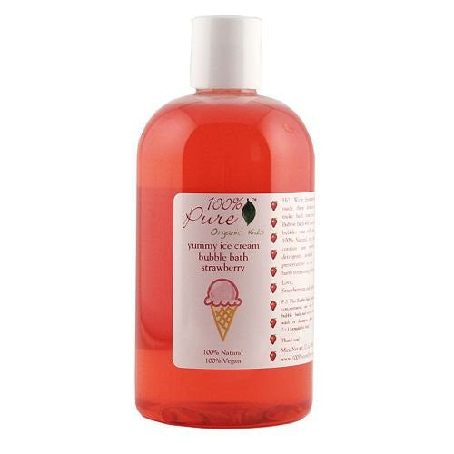 100% Pure Organic Kids Strawberry Ice Cream Bubble Bath 12oz