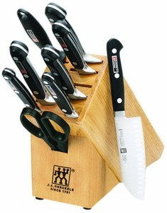 Zwilling J.A. Henckels Pro S Stainless-Steel 10-Piece Knife Set with Block