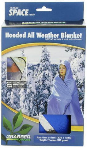 Hooded All Weather Blanket/Poncho - BLUE