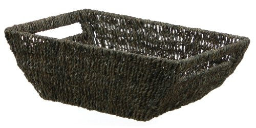 "COFFEE LARGE SEAGRASS COUPE BASKET-5.75""h x 17""l x 12""w"