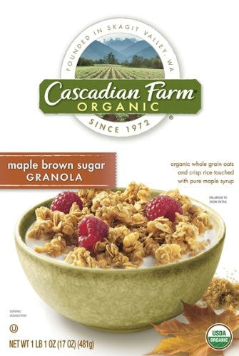 Cascadian Farms Granola Maple & Brown Sugar 17.0 OZ