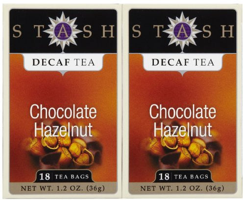 Chocolate Hazelnut DECAF Tea 18 Bags (Pack of 2)
