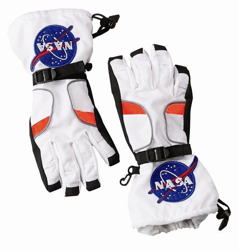 Astronaut Costume Gloves (Size: Medium Color: White)