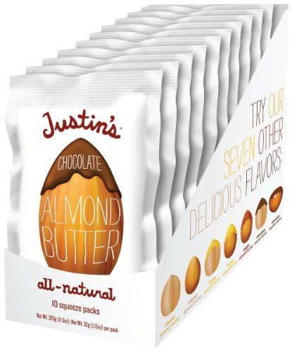 Justins Nut Butter Chocolate Almond Squeeze Packet 1.15 OZ