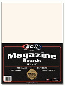 BCW Magazine Backing Board 8 1/2 X 11 100 Pack