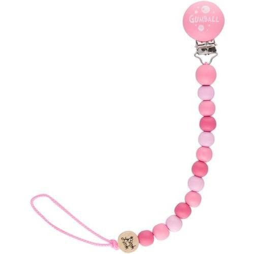 Bink Link Pacifier Attacher By Fruitabees in Pink Gumball