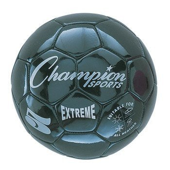 Champion Sports Extreme Series Soccer Ball Size 3 (Color: Black (EX3BK) Size:)