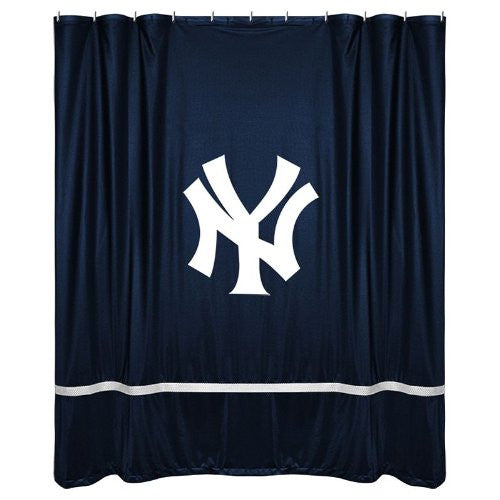 SIDELINES SHOWER CURTAIN New York Yankees - Color Midnight - Size 72x72