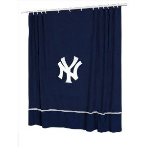 SIDELINES SHOWER CURTAIN Texas Rangers  - Color Bright Blue - Size 72x72