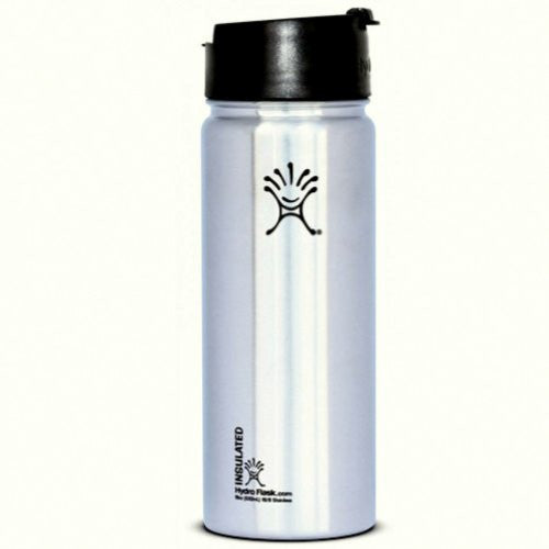 Flask Wide Mouth with Hydro Flip 18 oz - Classic Stainless