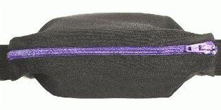 SPIBelt - Small Personal Item Belt - Black / Purple
