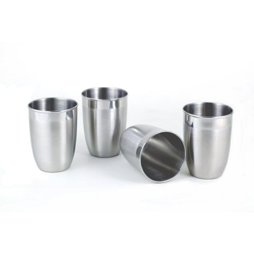 4-pc Two-tone Stainless Steel Tumbler Set - Fine StainlessLUX Drinkware for Your Enjoyment